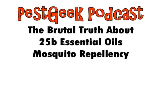 The Brutal Truth About 25b Essential Oils Mosquito Repellency