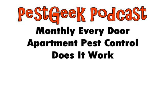 Monthly Every Door Apartment Pest Control Does It Work