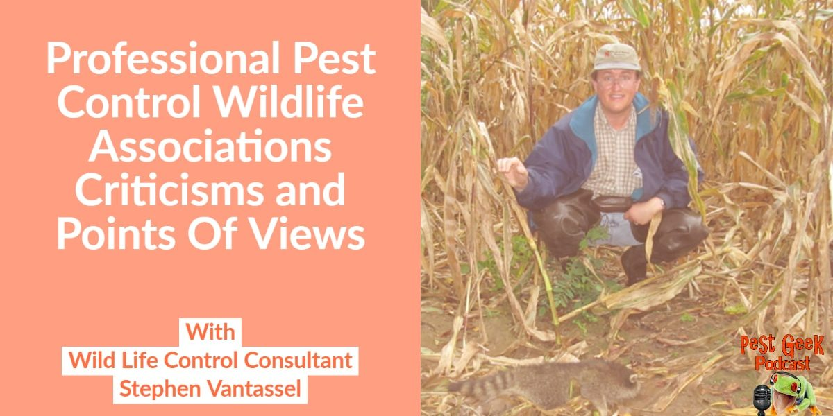 PGP-292 Professional Pest Control Wildlife Associations Criticisms and Points Of Views